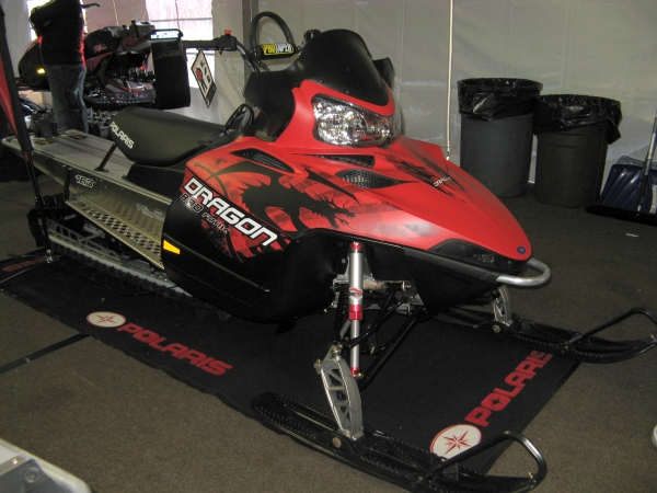 2010 Polaris Dragon RMK Snowmobile side view