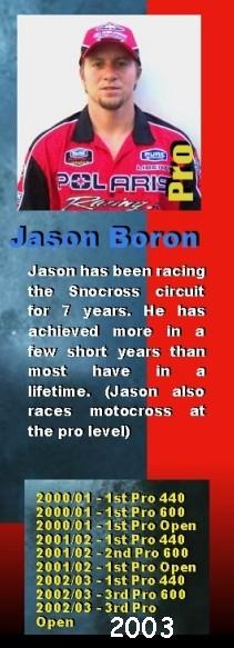 Jason Boron, Snocross racer