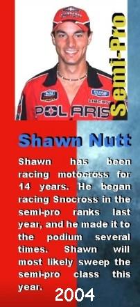 Shawn Nutt, snocross racer