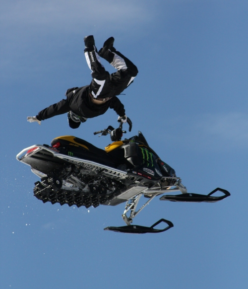 Joe Parsons - silver medal at 2010 X Games snowmobile freestyle event