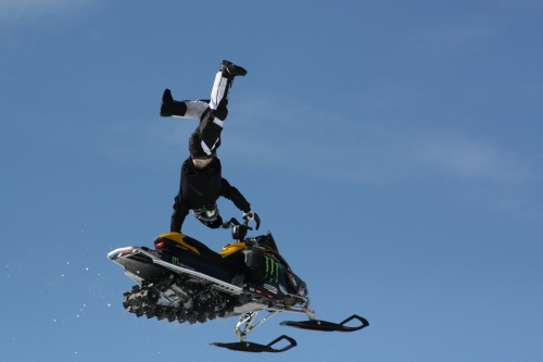 Joe Parsons - snowmobile freestyle event - photo provided by Whiplash Sports